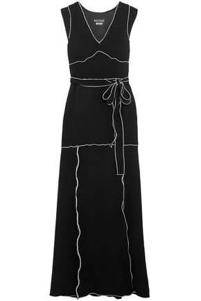 BOUTIQUE MOSCHINO Belted crepe gown