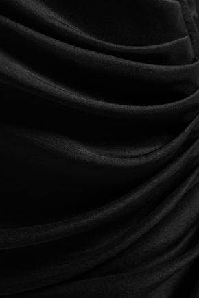 OSCAR DE LA RENTA Draped silk top