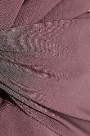 CUSHNIE Twist-front stretch-cady dress