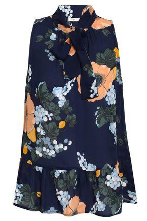JOIE Floral-print silk-crepe top