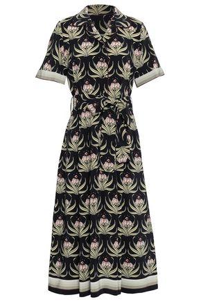 MARKUS LUPFER Floral-print silk-georgette midi dress