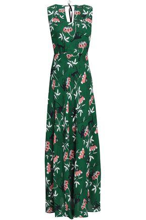 MARKUS LUPFER Nina floral-print crepe maxi dress