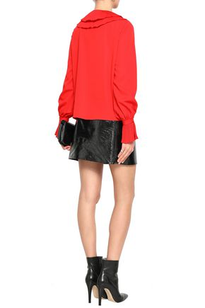 PERSEVERANCE Pleated crepe blouse