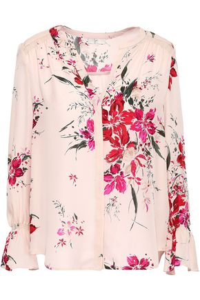 JOIE Keno floral-print washed-silk top