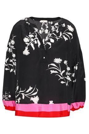JOIE Eilga floral-print silk blouse
