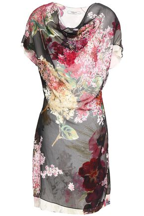 LANVIN Printed silk-georgette mini dress