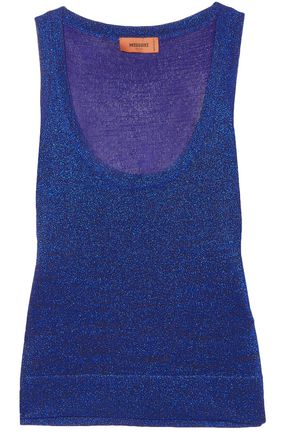 MISSONI Metallic knitted tank