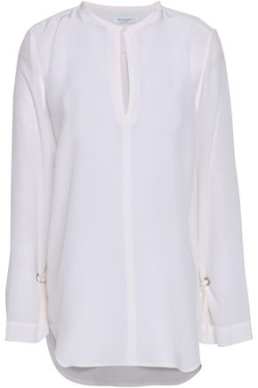 EQUIPMENT Sayer tie-detailed washed-silk blouse