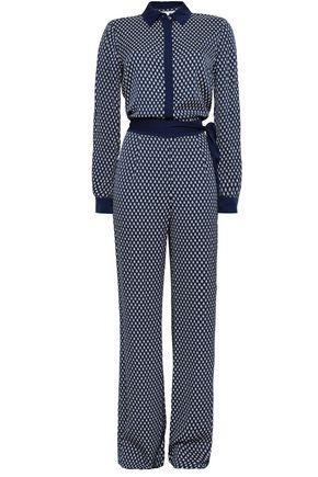 DIANE VON FURSTENBERG Belted stretch-silk jumpsuit