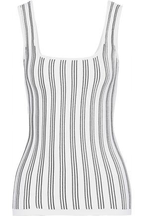 CUSHNIE ET OCHS Striped stretch-knit tank