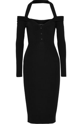 CUSHNIE ET OCHS Ribbed-knit halterneck dress