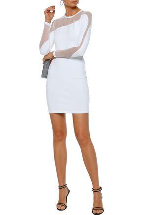 bdb57e49ebb5 CUSHNIE ET OCHS Mesh-paneled stretch-knit mini dress