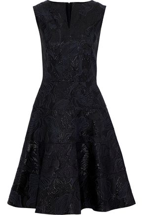 OSCAR DE LA RENTA Flared brocade dress