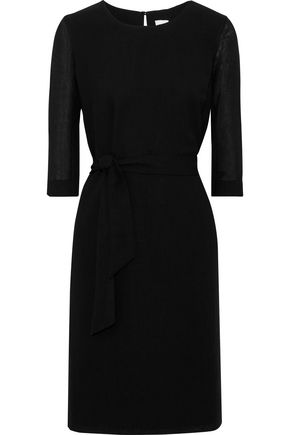 IRIS & INK Sophie belted crepe dress