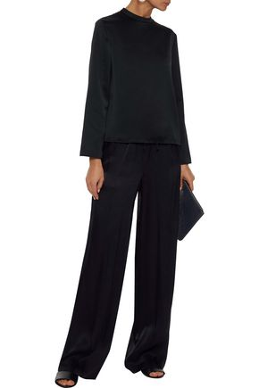 IRIS & INK Hailey satin-crepe blouse
