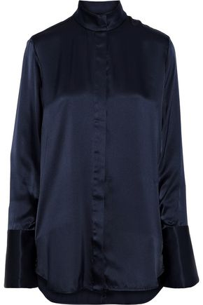ELLERY Erotic silk-satin blouse