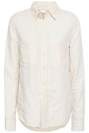MOTHER Cotton-blend twill shirt