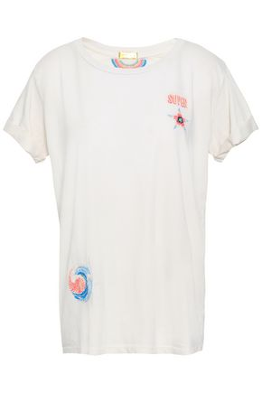 MOTHER Embroidered Supima cotton-jersey T-shirt
