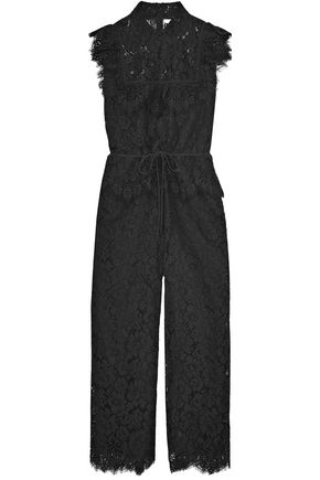 f7f858b704c2 GANNI Ruffled corded lace jumpsuit