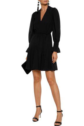 IRIS & INK Gabriella wrap-effect chiffon mini dress