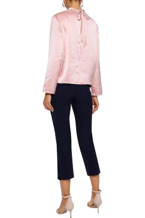 IRIS & INK Hailey satin-crepe blouse