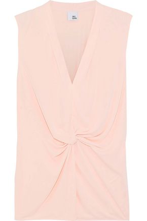 IRIS & INK Julianna twist-front stretch-jersey top