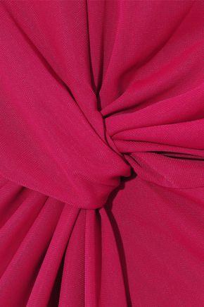 IRIS & INK Sofia twist-front stretch-jersey dress