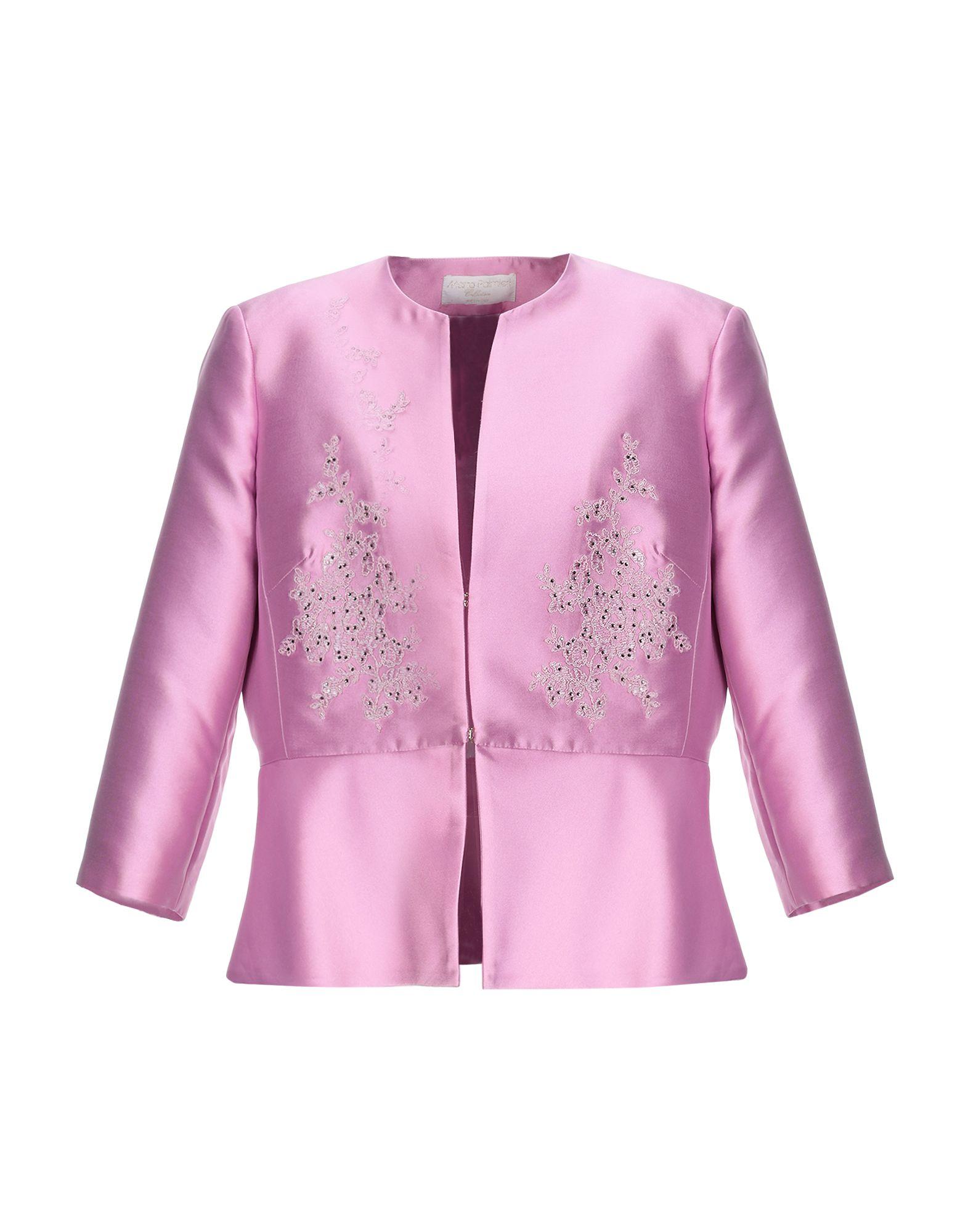 《セール開催中》MARTA PALMIERI レディース テーラードジャケット ピンク 48 ポリエステル 100%