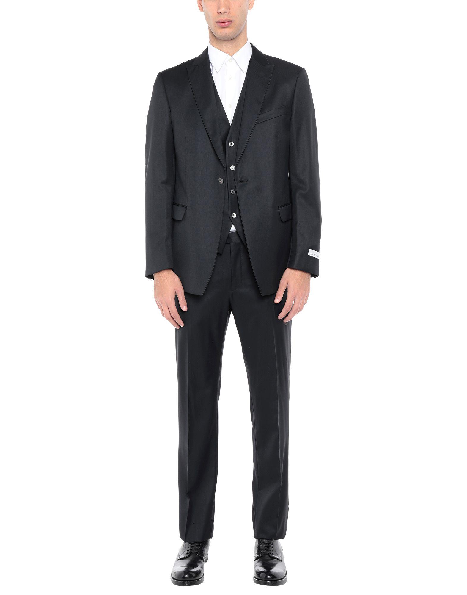 《送料無料》PAL ZILERI CERIMONIA メンズ スーツ ブラック 52 スーパー130 ウール 100%