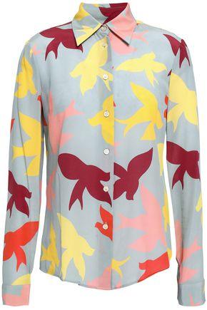 REDValentino Printed silk crepe de chine shirt