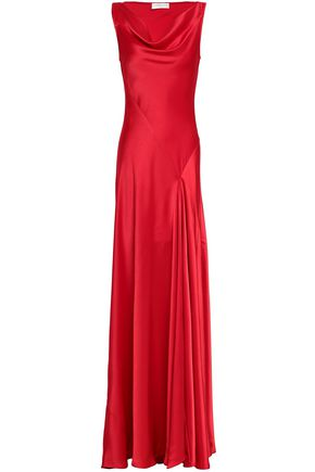 AMANDA WAKELEY Draped satin gown