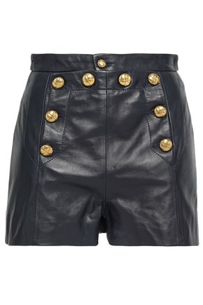 REDValentino Leather shorts