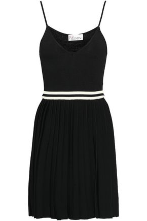 REDValentino Pleated stretch-knit mini dress