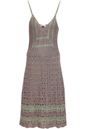 REDValentino Pointelle-knit cotton midi dress