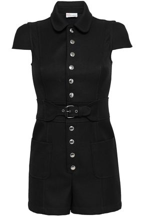 REDValentino Belted twill playsuit