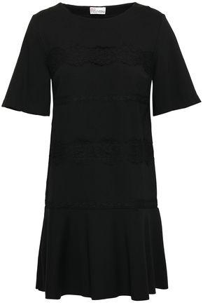 REDValentino Lace-trimmed stretch-jersey mini dress