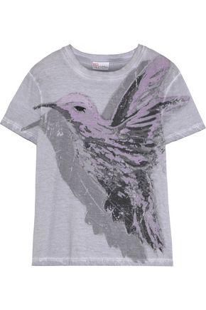 REDValentino Printed cotton-jersey T-shirt
