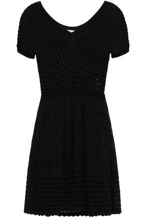 REDValentino Crochet-knit cotton mini dress