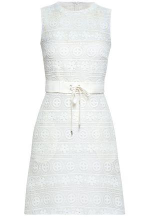 REDValentino Embroidered mesh mini dress