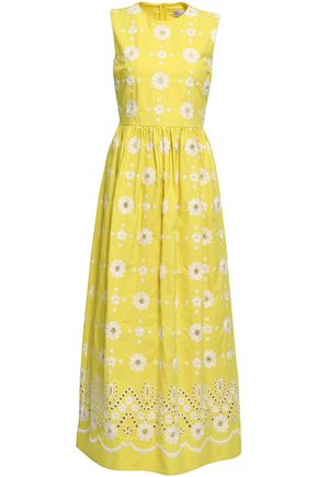 REDValentino Broderie anglaise cotton maxi dress
