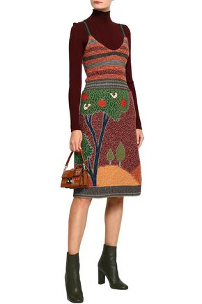 REDValentino Wool-blend jacquard dress