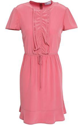 REDValentino Ruffle-trimmed silk crepe de chine mini dress