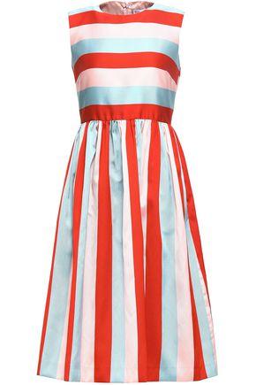 REDValentino Striped faille midi dress