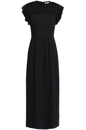 REDValentino Pleated stretch-knit maxi dress