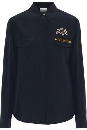 REDValentino Appliquéd silk shirt