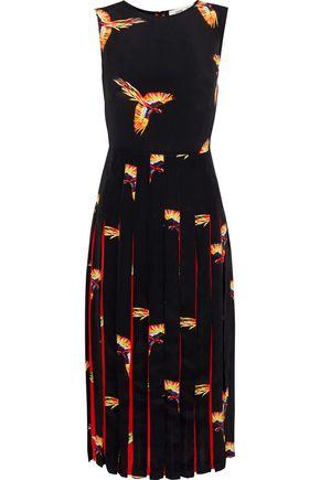 DIANE VON FURSTENBERG Talita pleated printed silk crepe de chine dress