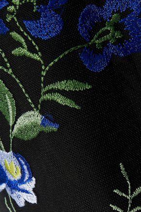 DIANE VON FURSTENBERG Embroidered tulle mini dress