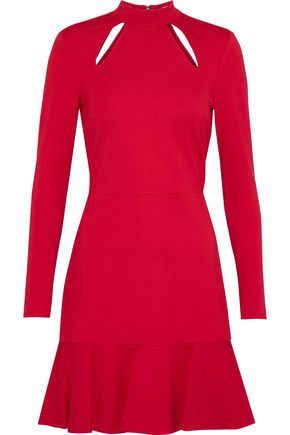 ALICE + OLIVIA Marisela cutout stretch-cady mini dress