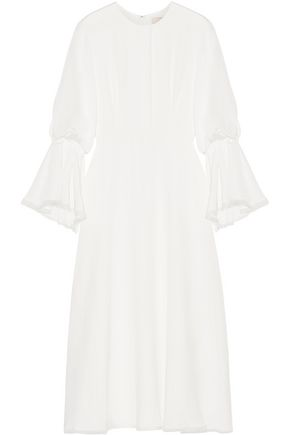 ROKSANDA Ophelia organza-trimmed silk midi dress