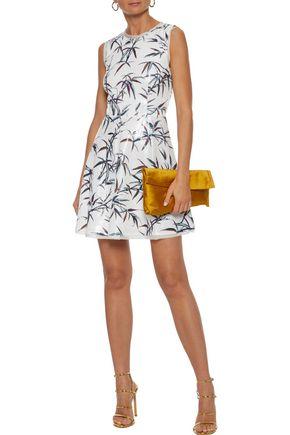 RACHEL ZOE Waverly cutout printed sequined cady mini dress